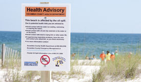 Oil health advisory sign Royalty Free Stock Images