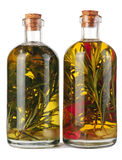 Oil with herbs Stock Image