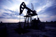 Oil horse head pump Royalty Free Stock Photos