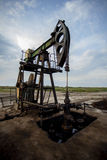 Oil horse head pump Stock Photos