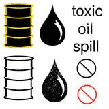 Oil Icon set Royalty Free Stock Images