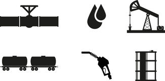 Oil icon Stock Images