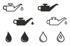 Oil icon set. Oil vector icons set. Black illustration isolated on white background for graphic and web design Stock Illustration