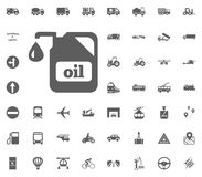 Oil icon. Transport and Logistics set icons. Transportation set icons.  Royalty Free Stock Image