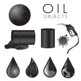 Oil icons Royalty Free Stock Image