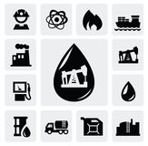 Oil icons Stock Photos
