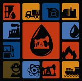 Oil icons Stock Image