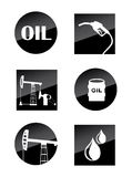 Oil icons Royalty Free Stock Images