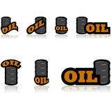 Oil icons Stock Photo