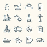 Oil icons Royalty Free Stock Photo