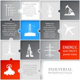 Oil icons infographic. Stock Photo