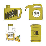 Oil icons Stock Photography