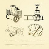 Oil icons set. Royalty Free Stock Photos