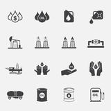Oil icons set. Royalty Free Stock Photography