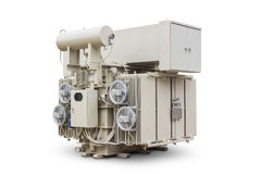 Oil immersed power transformer Stock Photos