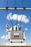 Oil immersed transformer Royalty Free Stock Photo