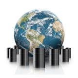 Oil increase illustration Stock Photos