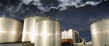 Oil industrial panoramic Royalty Free Stock Photo