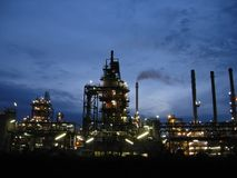 Oil industry. Big oil giant of industry stock photos