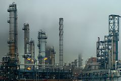 Oil industry. Image of wien schwechat, austria´s biggest refinery Royalty Free Illustration