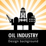Oil industry background royalty free illustration