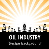 Oil industry background Stock Images