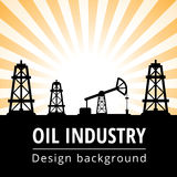 Oil industry background Royalty Free Stock Image