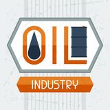 Oil industry background. Industrial illustration in flat style Stock Image