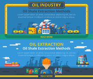 Oil industry banner set Royalty Free Stock Images