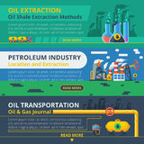 Oil industry banner set Royalty Free Stock Photography