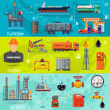 Oil industry Banners Stock Images