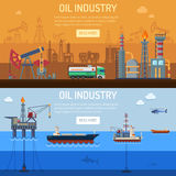 Oil industry Banners Royalty Free Stock Images