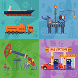Oil industry Banners Stock Photo