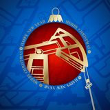 Oil industry christmas design. Royalty Free Stock Image