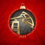 Oil industry christmas design. Stock Photo