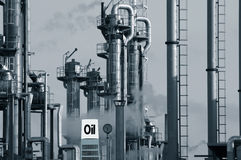 Oil industry and commercial sign Royalty Free Stock Photography