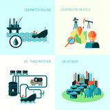 Oil industry composition vector illustration