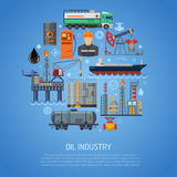 Oil industry Concept Royalty Free Stock Photos