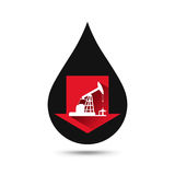 Oil industry concept. Oil price falling down graph. With petroleum pump and oil drop. Financial markets. Vector illustration Stock Photo