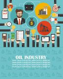 Oil industry design isolated modern flat with managerman,businessman.lorem ipsum is simply text. Vector illustration vector illustration