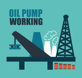 Oil industry design Royalty Free Stock Image