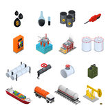 Oil Industry and Energy Resource Color Icons Set. Vector Stock Image