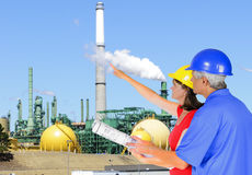 Oil industry engineers Stock Photography
