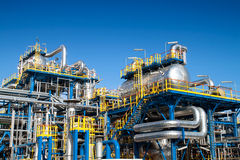 Oil industry equipment installation Stock Image