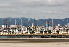 Oil industry in the field of Gibraltar Royalty Free Stock Photos