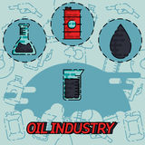 Oil industry flat concept icons. Vector illustration, EPS 10 Stock Images