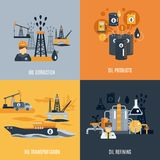 Oil Industry Flat Icon Royalty Free Stock Photography