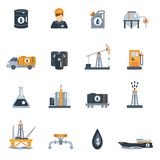 Oil Industry Flat Icon Stock Photo