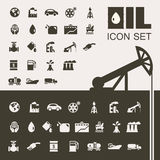 Oil Industry Flat Icon Set Royalty Free Stock Image