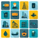 Oil Industry Flat Icons Royalty Free Stock Photos